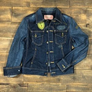 Oxygen Required Rare Jean Jacket Patches Destroyed